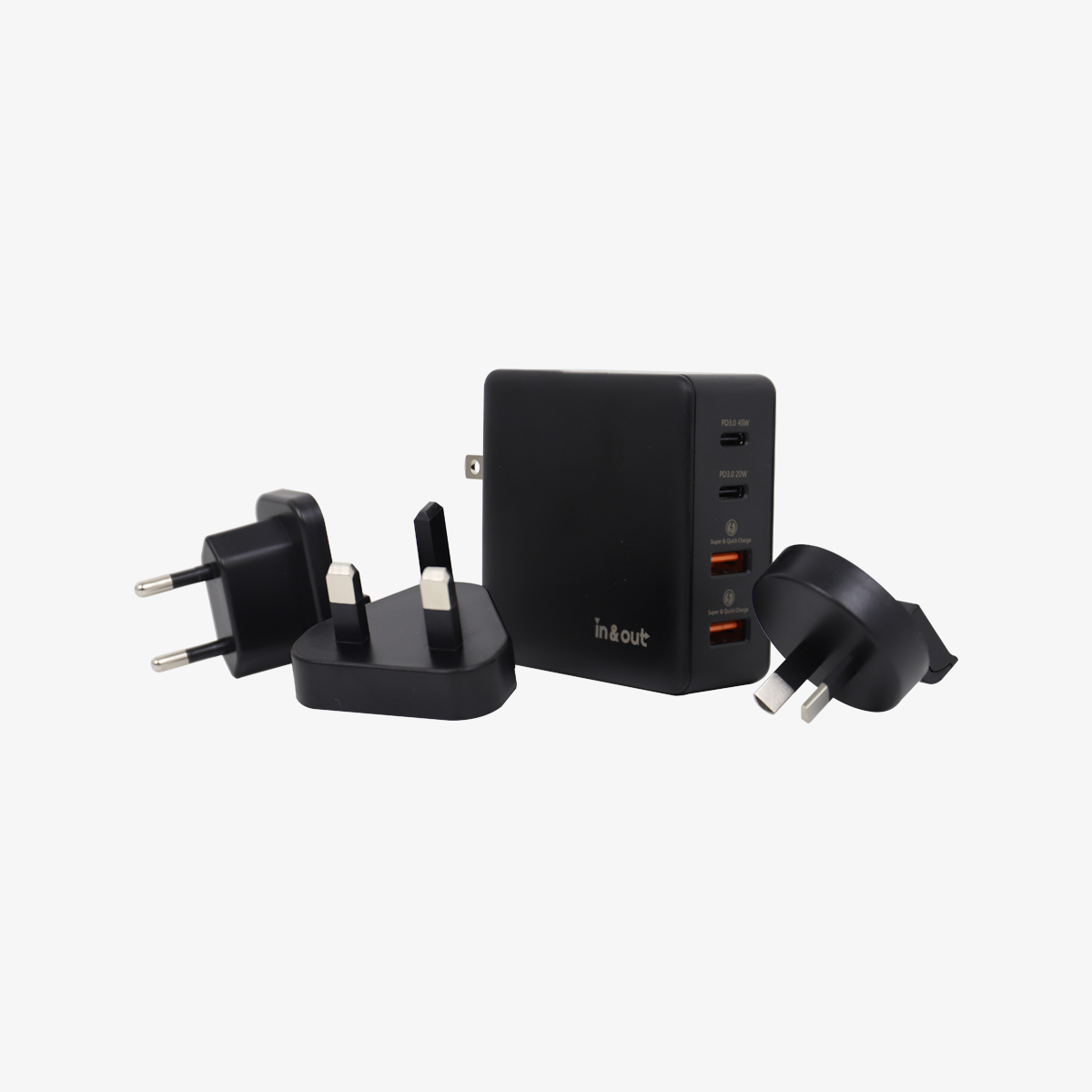 in&out  SmartUniversal Chargerwith 3 plug